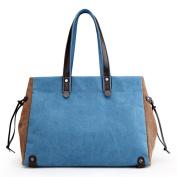 Lady canvas briefcase,Commuter bag Handbag Hobos & shoulder bags for women-C