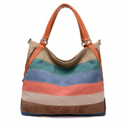 Ms. Hit colour canvas bag,Shoulder bags for women,Art leisure package Hobos bags-A