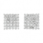 Iced Out Diamond Earrings 10K Gold 1.33CT Genuine Diamonds New In Style