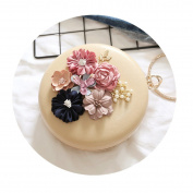 OURBAG Evening Clutch Bag Crystal Wedding Purse Bridal Prom Handbag Party Bag With Bracelet for Women Ladies Khaki