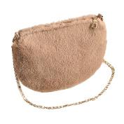 Yuan Women's Soft-Feel Plush Wristlet Crossbody Wallet Clutch Bags