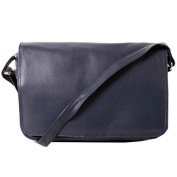 New Lady's Soft Leather Handbag with lots of compartments Flapover Handbag