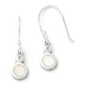 SS White Ice .01 ct Diamond and MOP Shepherd Hook Earrings