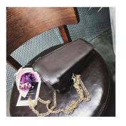 OURBAG Women Cute Coffee Latte Handbag Messenger Shoulder Chain Totes Bag Purse Black