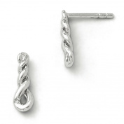 SS White Ice Twisted Diamond Post Earrings