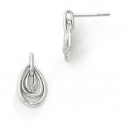 SS White Ice Teardrop Diamond Post Earrings