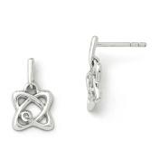 SS White Ice Oval Diamond Post Earrings