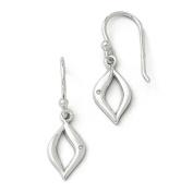 SS White Ice Diamond Shepherd Hook Earrings