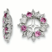 Sterling Silver Created Pink Sapphire Earring Jacket