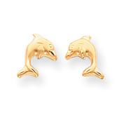 14k Madi K Satin Dolphin Earrings