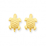 14k Madi K Turtle Post Earrings