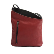 """"""" Miriam"""" Cross body bag made with soft calfskin leather -407"""