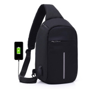 Cross-Body Bags, Fcostume Laptop Backpack Crossbody Bags Anti-theft Notebook School Bag With USB Port