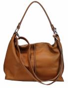 BOZANA Women's Shoulder Bag Brown Cognac