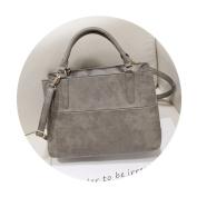 OURBAG Women Handbags Fashion Handbags for Women PU Leather Shoulder Bags Messenger Tote Bags Grey