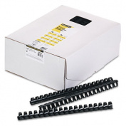 Fellowes 52367 Plastic Comb Bindings 3/4 150-Sheet Capacity Black 100 per Pack