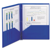 Smead Poly Two-Pocket Folders with Fasteners