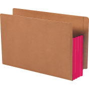 Smead Red Rope End-Tab File Pockets with Cleared Gussets
