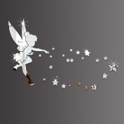 26pcs/set Tinkerbell Fairy Wall Mirror Acrylic Mirrored Decorative Tinker bell Wall stickers Home Decoration