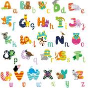 HomeEvolution Large Removable Educational Animal Alphabet Baby Nursery Peel and Stick Wall Sticker Art
