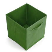 EZOWare 6-Pack Foldable Storage Box Cube Basket Bin for Laundry, Toys, Clothes, DVDs, Books, Food, Bedding, Art and Craft - Kale Green
