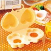 FFJTS Microwave Steamer (Flowers + Love) Boiled Egg / Steam Egg Mould