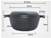 FFJTS 21CM Cast Iron Decoction - Omelette - Flat Thickening