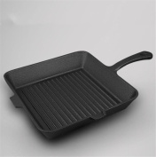 FFJTS Cast Iron Steak Pot Stripes Thickening Western Uncoated / Cast Iron Skillet
