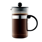 ZHAOJING Heat-resistant Glass Coffee Pot Stainless Steel Filter Pressure Coffee Pot Teapot 1000ml