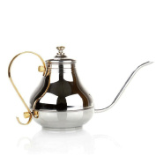 ZHAOJING Hand Punch Coffee Pot Household Stainless Steel Hanging Ear Pot Bubble Teapot Mouth Long Mouth Pot 1200ml