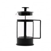 ZHAOJING Black Glass Coffee Pot Glass Tea Strainer Filter Coffee Pot Simple 350ml