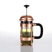 ZHAOJING Law Pressure Coffee Pot Coffee Pot Home Filter Pressing Red Teapot Heat-resistant Glass 350ml