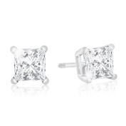 1ct Diamond Stud Earrings in 14k WG, H/I Colour SI2/SI3 Clarity