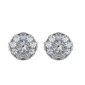 Imperial 1/4Ct TDW Diamond Sterling Silver Cluster Earring