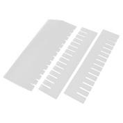 Unique Bargains Small Gadgets Clothes Plastic Storage Box Desk Drawer Divider White 5Pcs