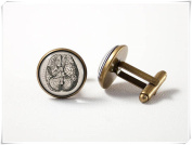 Brain cuff links Brain jewellery Biology cufflinks Medicine jewellery
