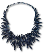 Classic Pointy Leaf Cluster Collar Choker Necklace by Pashal