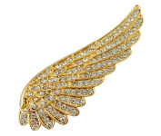 Wonvin Women's Angel Wings Sweater Scraf Coat Brooch Pin Buckle With Crystal