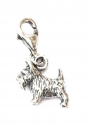 Toucan of Scotland Sterling Silver Official NC500 Collectable Scottish Terrier Clip On Charm