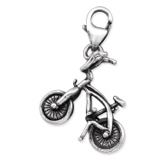 Bicycle Sterling Silver Clip on Charm by Kate Benson - fits Thomas Sabo