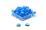 Birth Stone Jewels 4mm Blue Topaz Oval Cut Cubic Zirconia Gem Stones Pack Of 4
