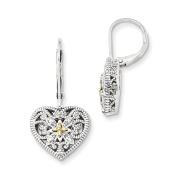 Sterling Silver w/14k Diamond Earrings