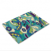 GT Placemat, , Cotton and linen, Printing, Western mats, Rectangular, Non-slip mat, Heat-resistant, waterproof mats, Kitchen, Tableware mats,