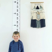 Growth Chart,niceeshop(TM) Baby Wall Hanging Growth Chart,Handing Ruler Wood Frame Height Measurement Rulers for Kids,Removable Growth Chart 200cm x 20cm