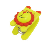 Unique Bargains Yellow Red Wood Handle Lion Head No.10 Staples Stapler Stationery