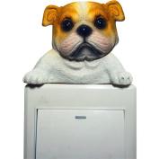 Livecity Resin Dog Animal Switch Wall Art Sticker Laptop Refrigerator Decal Home Decor