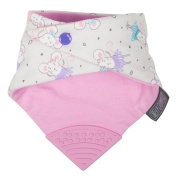 Cheeky Chompers CC771162 Necker Chew – Ballerina Mice Scarf in Pink