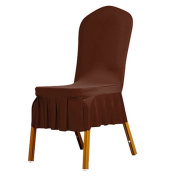 bismarckbeer Spandex Chair Covers, Washable Slipcovers Seat Chair Covers for Wedding Party Hotel Banquet