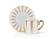 Eva Soleil Coffee Cup and Saucer - Gold - 90 cc