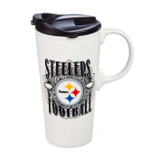 Team Sports America 3CTC3824 Pittsburgh Steelers Perfect Cup, White